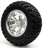 """Barracuda"" - 12"" Chrome Lifted Tire and Wheel Combo"