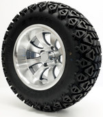 """Elite"" - 12"" Machined/Gun Metal Lifted Tire and Wheel Combo"