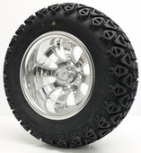 """Elite"" - 12"" Polished Lifted Tire and Wheel Combo"