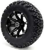 "Madjax 12"" Element Black Wheels with Lifted Tire Options Combo"