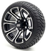 "12"" GTW Voyager SS Machine/Matte Black Wheel/Rim and Tire Combo"