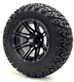 "12"" GTW Voyager SS Matte Black Wheels plus X-Trail Tires"