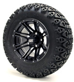 "12"" GTW Voyager SS Matte Black Wheels Combo - Choose the Lift Kit"