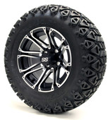 "12"" GTW Voyager SS Machince Black Wheels Combo - Choose the Lift Kit"