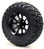 "12"" GTW Clutch Matte Black Wheels plus X-Trail Tires"