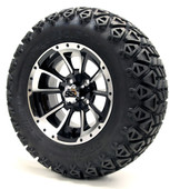 "12"" GTW Clutch Machine Black Wheels plus X-Trail Tires"