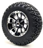 "12"" GTW Clutch Machine Black Wheels plus X-Trail Tires"