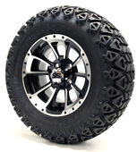 "12"" GTW Clutch Machine Black Wheels Combo - Choose the Lift Kit"