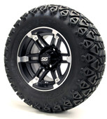 "12"" GTW Barracuda SS Matte Black Wheels plus X-Trail Tires"