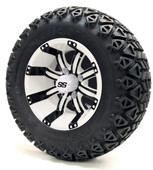 "12"" Tempest SS White/Black Wheels Combo - Choose the Lift Kit"