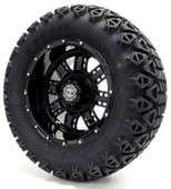 "Madjax 12"" Black Transformer Wheels Combo - Choose the Lifted Tires and Lift Kit"