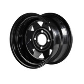 "Madjax 12""  Black Steel Wheels with Lifted Tire Options Combo"