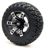 "12""  Machined Black Brute SS Wheels Combo - Choose the Lifted Tires and Lift Kit"