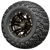 "10"" Painted Black Specter SS Wheels and Lifted Tires Combo - Choose the Lift Kit"