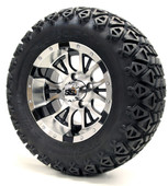"12""  Machined Black Diesel SS Wheels Combo - Choose the Lifted Tires and Lift Kit"