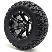 "Madjax 12""  Black Nitro Wheels Combo - Choose the Lifted Tires and Lift Kit"