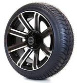 "14"" Avenger Machined Black Wheels Combo - Low Pro Tires"