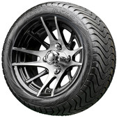 """12"""" RHOX RX101 Machined Wheels and LowPro Tires Combo"""