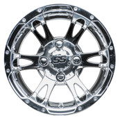 "12"" RHOX RX322 Chrome Golf Cart Wheel"