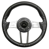 Aviator 4 Carbon Fiber Grip/Brushed Aluminum Steering Wheel