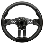 Aviator 5 Black Grip/Black Spokes Steering Wheel