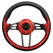 Aviator 4 Red Grip/Black Spokes Steering Wheel