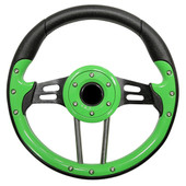 Aviator 4 Lime Green Grip/Black Spokes Steering Wheel