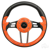 Aviator 4 Orange Grip/Black Spokes Steering Wheel