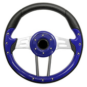 Aviator 4 Blue Grip/Brushed Aluminum Steering Wheel