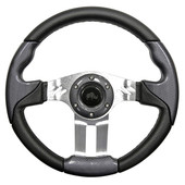 Aviator 5 Carbon Fiber Grip/Brushed Aluminum Steering Wheel