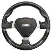 Bonneville Carbon Fiber Grip/Brushed Aluminum Steering Wheel