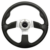 Formula GT Black Grip/Brushed Aluminum Steering Wheel
