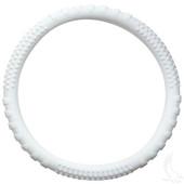 Rubber Steering Wheel Cover - White