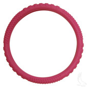 Rubber Steering Wheel Cover - Magenta
