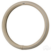 RHOX Steering Wheel Cover - Beige and Chrome