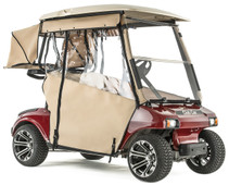 """PRO-TOURING"" 3-Sided Sunbrella Track Enclosure for Club Car DS 2000 1/2-up  (Choose Color)"