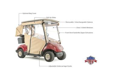 Touring Golf Cart Enclosure for Yamaha G29 Drive Golf Cart on
