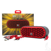 QUB Three Dual Driver Wireless Bluetooth Speaker in Red