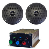 "Bluetooth Audio Package with 75 Watt Amp and 5"" Speaker Set"
