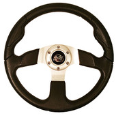 "GTW Rally Sport Black 13.5"" Golf Cart Steering Wheel"
