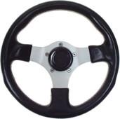 Grant Formula 3-Spoke with Black Grip Golf Cart Steering Wheel