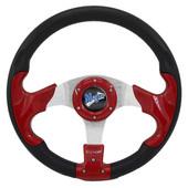 "Madjax Razor Red 13"" Golf Cart Steering Wheel"