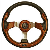 "GTW Rally Woodgrain 12.5"" Golf Cart Steering Wheel"