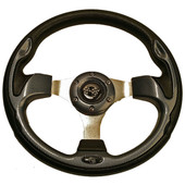 "GTW Rally Carbon Fiber 12.5"" Golf Cart Steering Wheel"