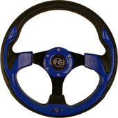 "GTW Rally Blue 12.5"" Golf Cart Steering Wheel"