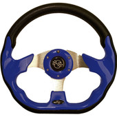 "GTW Race Blue 12.5"" Golf Cart Steering Wheel"