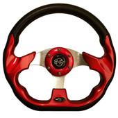 "GTW Race Red 12.5"" Golf Cart Steering Wheel"