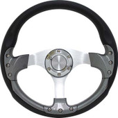 "GTW Pursuit Carbon Fiber 14"" Golf Cart Steering Wheel"