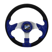 "Madjax Razor Blue 13"" Golf Cart Steering Wheel"