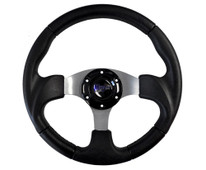 "Madjax Razor Black 13"" Golf Cart Steering Wheel"